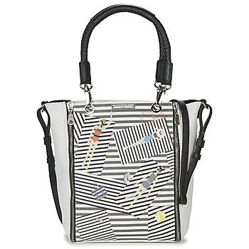 Bags Women Shoulder bags Barbara Rihl SARAH IN BONIFACIO ZIPPER MED White / Black