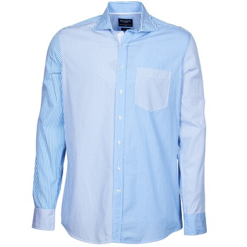 material Men long-sleeved shirts Hackett GORDON Blue