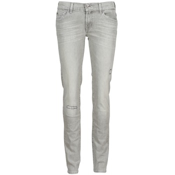 material Women slim jeans 7 for all Mankind ROXANNE DESTROYED Grey