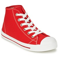 Shoes Men High top trainers Yurban WAXI Red