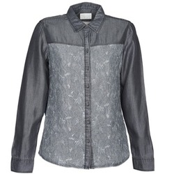 material Women Shirts Esprit Denim Blouse Grey