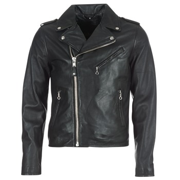 material Men Leather jackets / Imitation le Schott LEVOQ Black