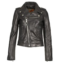material Women Leather jackets / Imitation le Schott SIMOUDE Black