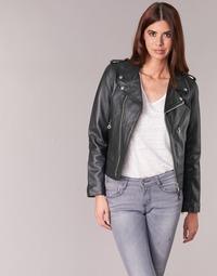 material Women Leather jackets / Imitation le Schott SIMOUDE Black
