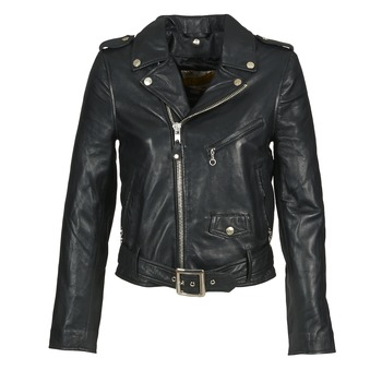 material Women Leather jackets / Imitation le Schott GUELINE Black