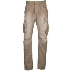 material Men Cargo trousers Freeman T.Porter PUNACHO COTTON GAB CHOCOLATE CHIP Brown / BEIGE