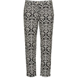 material Women Wide leg / Harem trousers Freeman T.Porter PARADISE AFRICAN COT. BLACK INK Black / White