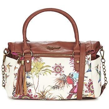 Bags Women Handbags Desigual LIBERTY NEW TROPIC ECRU / COGNAC