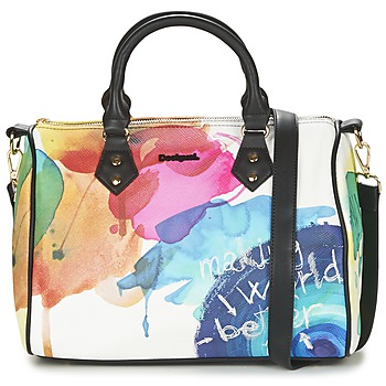 Bags Women Handbags Desigual BOWLING STROKER White / Multicoloured