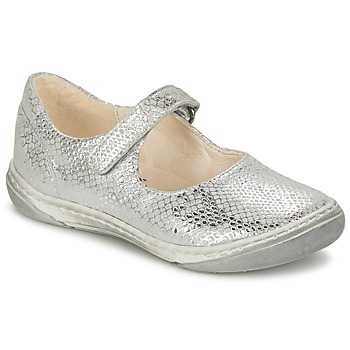 Shoes Girl Ballerinas Shoo Pom MILA BABY Silver