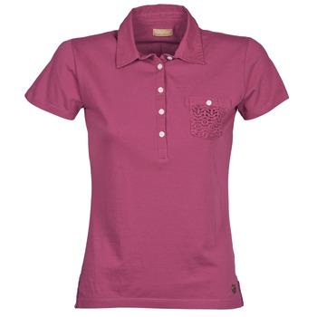 material Women short-sleeved polo shirts Napapijri EZE Pink