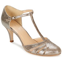 Shoes Women Court shoes Jonak LAURAIA Gold / Taupe