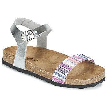 Shoes Girl Sandals Citrouille et Compagnie IGUANA Silver / Multicoloured
