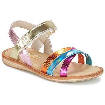 Shoes Girl Sandals Citrouille et Compagnie MINIRAVI Multicoloured