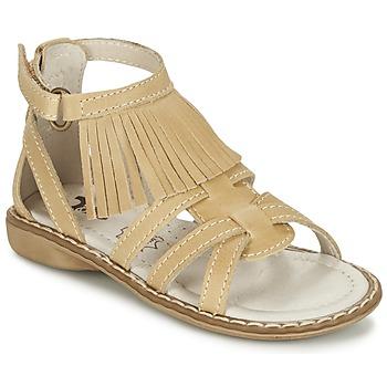 Shoes Girl Sandals Citrouille et Compagnie CONQUITA Beige
