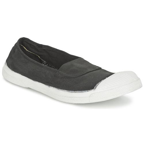 Shoes Women Ballerinas Bensimon TENNIS ELASTIQUE Carbon