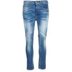 material Women straight jeans Meltin'pot LEIA Blue / Clear