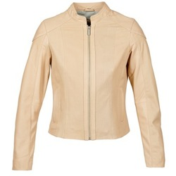 material Women Leather jackets / Imitation le Oakwood 61848 Beige / Nude
