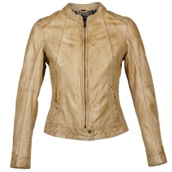 material Women Leather jackets / Imitation le Oakwood 61712 Brown