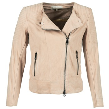 material Women Leather jackets / Imitation le Oakwood 61903 Pink / Clear