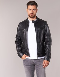 material Men Leather jackets / Imitation le Oakwood CASEY Black