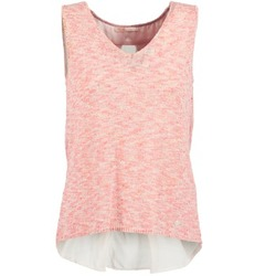 material Women Tops / Sleeveless T-shirts LPB Woman NODOLA Coral