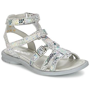 Shoes Girl Sandals Mod'8 JUJU Silver