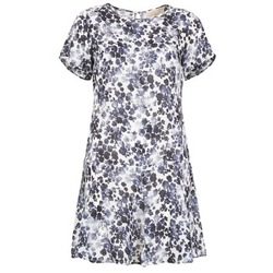 material Women Short Dresses MICHAEL Michael Kors MS68VFH416 MARINE / White