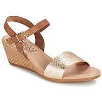 Shoes Women Sandals Casual Attitude GOLETTE CAMEL / GOLD