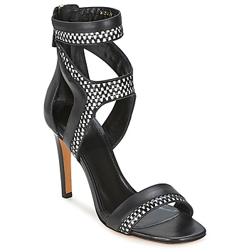 Shoes Women Sandals Hugo Boss Black PAMIRA Black / White