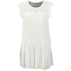 material Women Short Dresses See U Soon KELLITS White