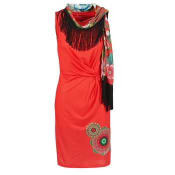 material Women Short Dresses Desigual USIME Red