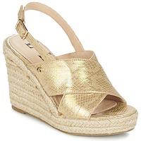 Shoes Women Sandals Elle CAMPO Beige / Gold