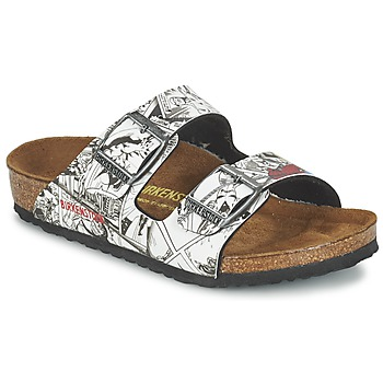 Shoes Boy Mules Birkenstock ARIZONA Black / White