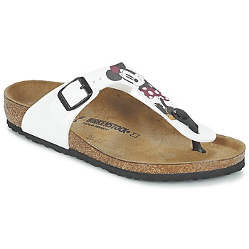 Shoes Children Flip flops Birkenstock GIZEH White / Red