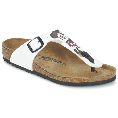 Birkenstock GIZEH White   Red - Free delivery with Spartoo NET ... 8b35d2d050