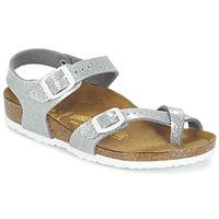 Shoes Girl Sandals Birkenstock TAORMINA Silver