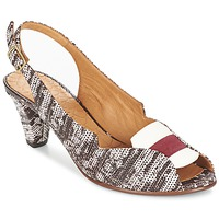 Shoes Women Sandals Chie Mihara WINKA Grey / Bordeaux