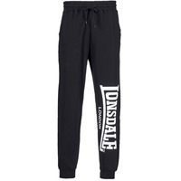 material Men Tracksuit bottoms Lonsdale LARGE LOGO Black