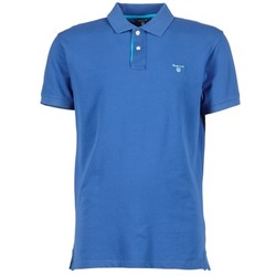 material Men short-sleeved polo shirts Gant CONTRAST COLLAR PIQUE Blue