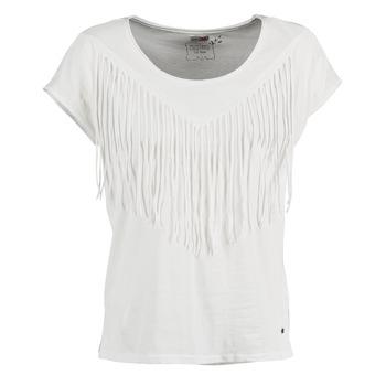 material Women short-sleeved t-shirts Mustang FRINGE White