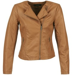 material Women Leather jackets / Imitation le Vila VISINNA COGNAC