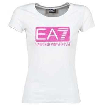 material Women short-sleeved t-shirts Emporio Armani EA7 BEAKON White