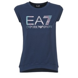 material Women short-sleeved t-shirts Emporio Armani EA7 ANDROUL Marine
