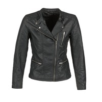 material Women Leather jackets / Imitation le Only FREYA Black