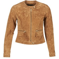 material Women Leather jackets / Imitation le Only PAIGE COGNAC