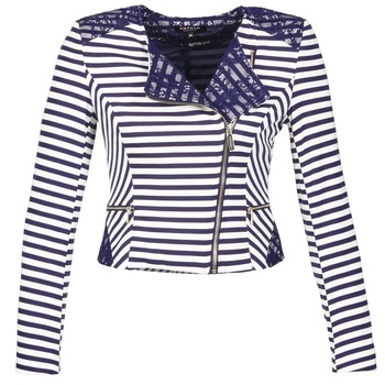 material Women Jackets / Blazers Morgan VMEL Marine / White