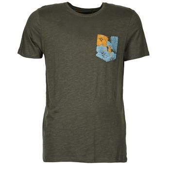 material Men short-sleeved t-shirts Jack & Jones TROPICAL ORIGINALS Black