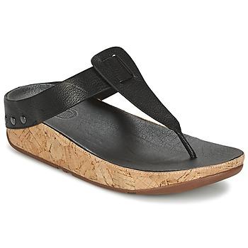 Shoes Women Flip flops FitFlop IBIZA CORK Black