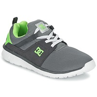Shoes Boy Low top trainers DC Shoes HEATHROW Grey / White / Green